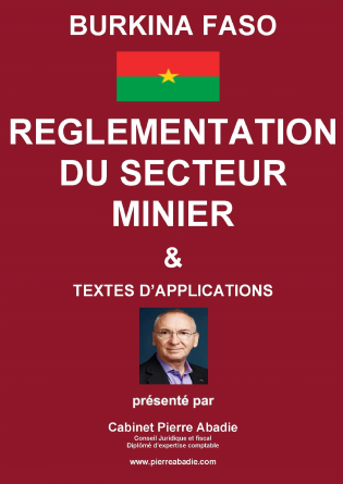 Règlementation du secteur Minier du BF