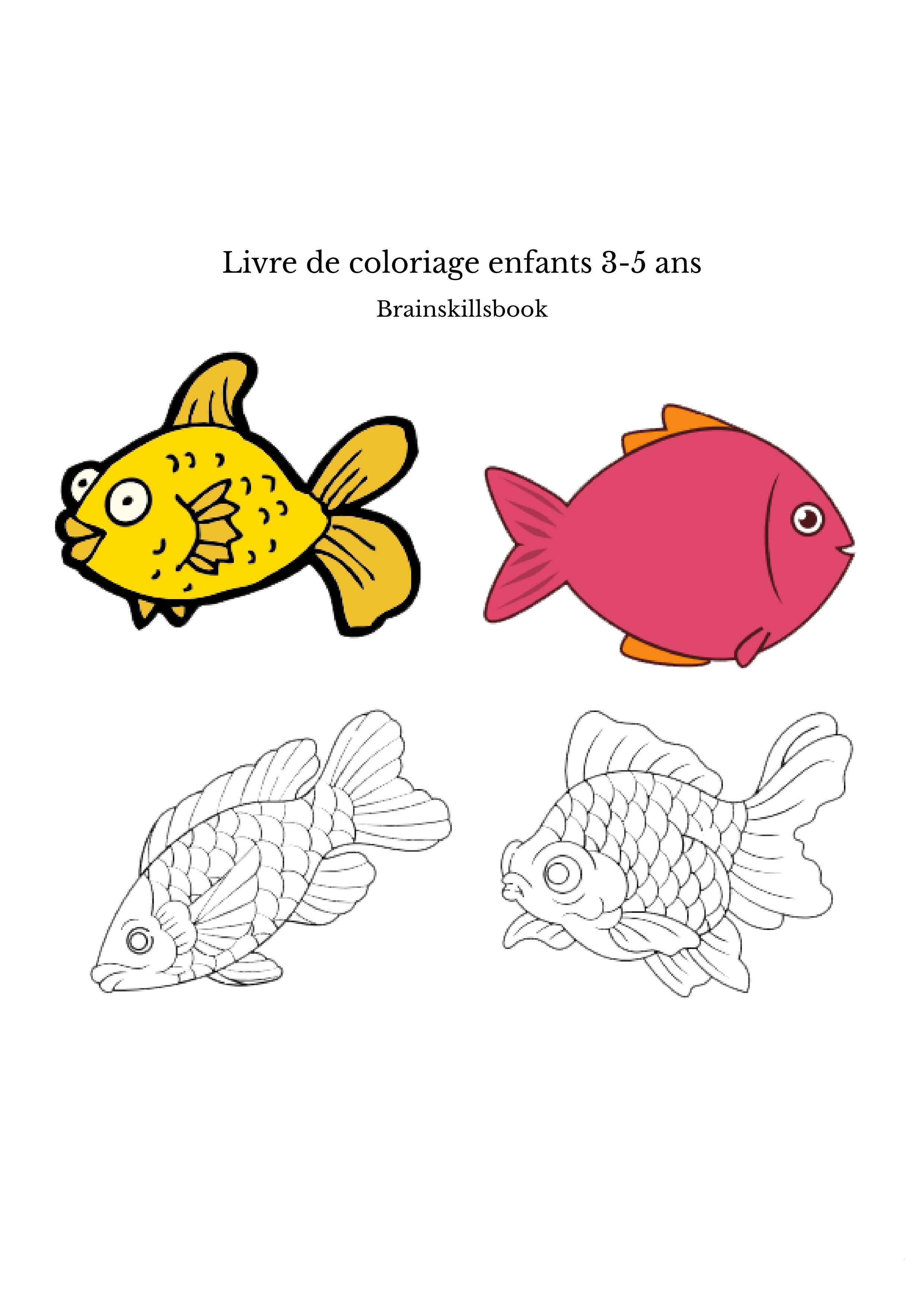 Livre de coloriage enfants 3-5 ans
