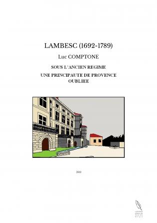 LAMBESC (1692-1789)