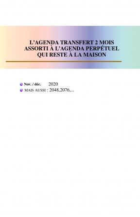 Modèle 4, agenda transfert 11-12 2020