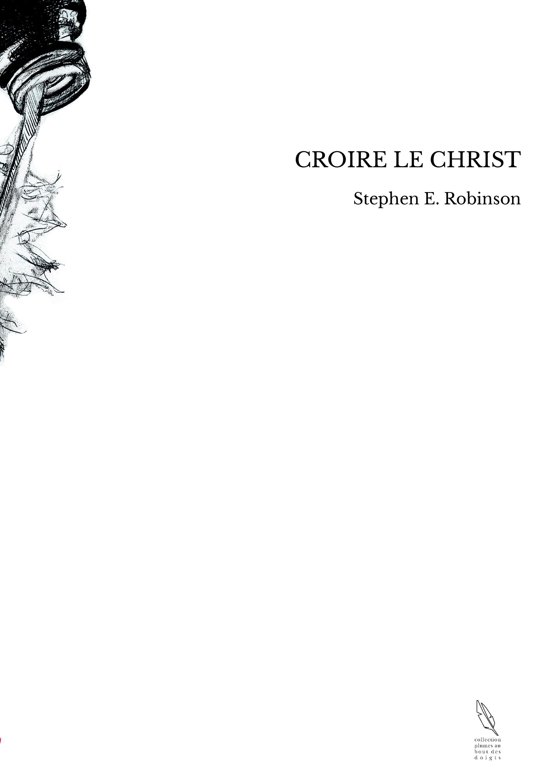 CROIRE LE CHRIST
