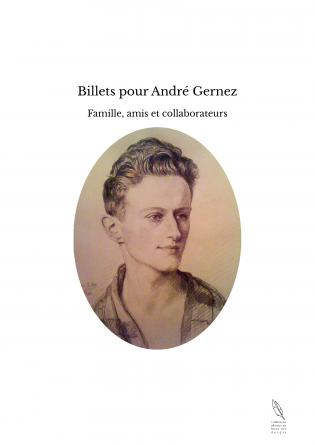 Billets pour André Gernez