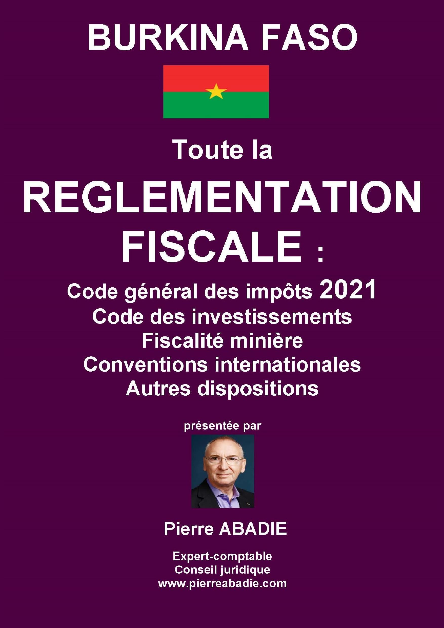 Règlementation fiscale 2021 du Burkina