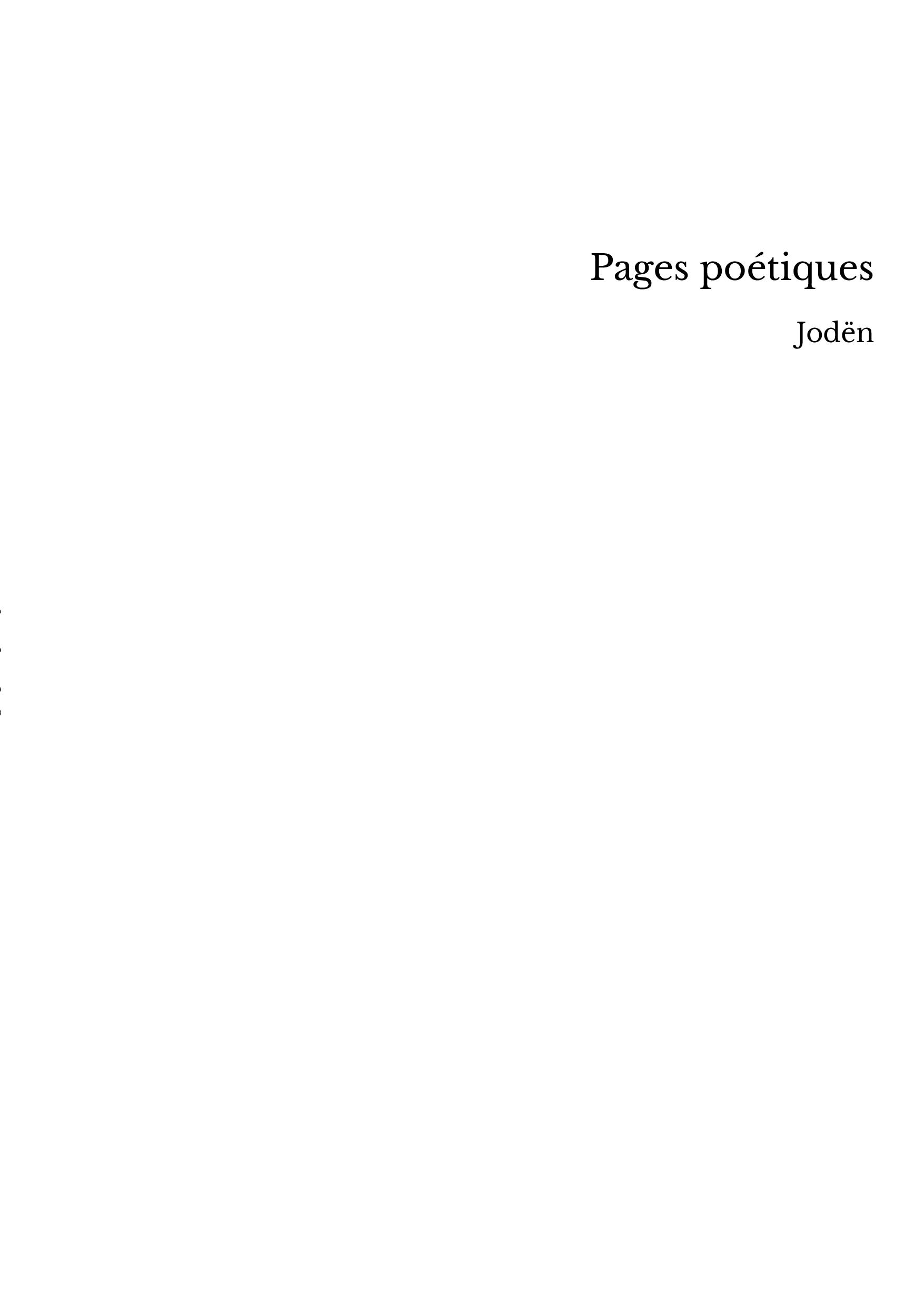 Pages poétiques