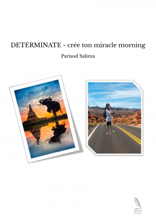 DETERMINATE - crée ton miracle morning