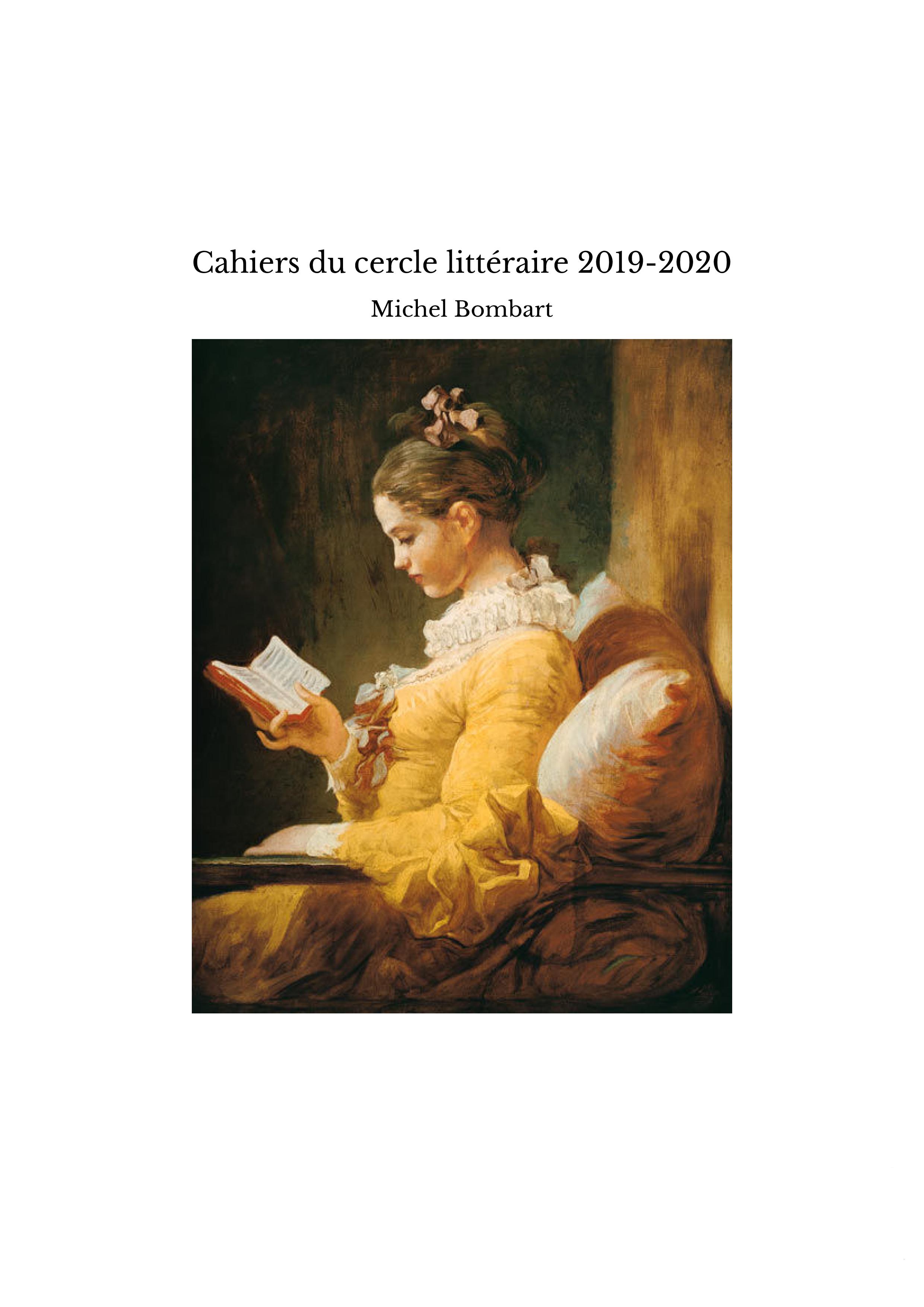 Cahiers du cercle littéraire 2019-2020