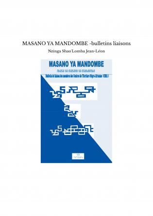 MASANO YA MANDOMBE -bulletins liaisons