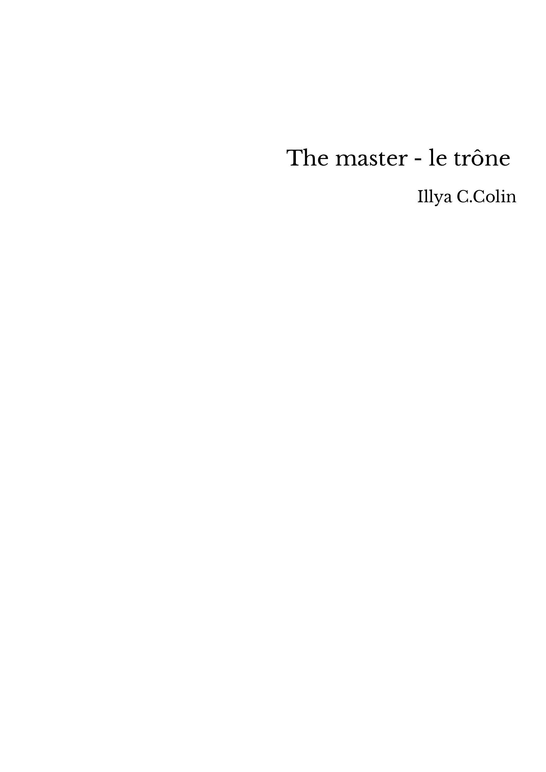 The master - le trône
