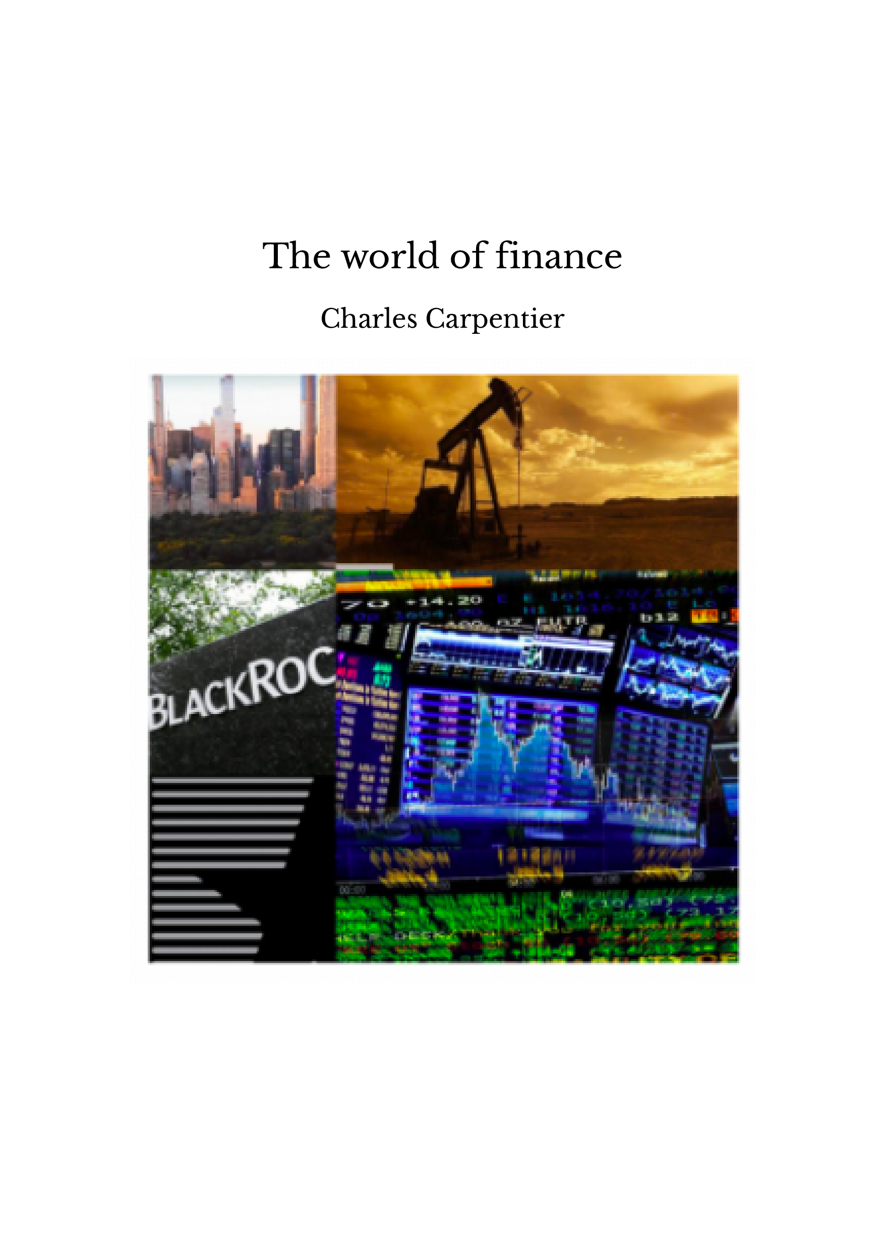 The world of finance