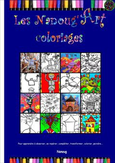 Les Nanoug Art'coloriages
