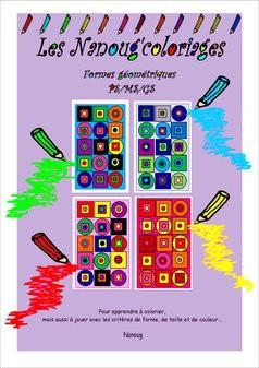 Les Nanoug'coloriages géom- PS/MS/GS