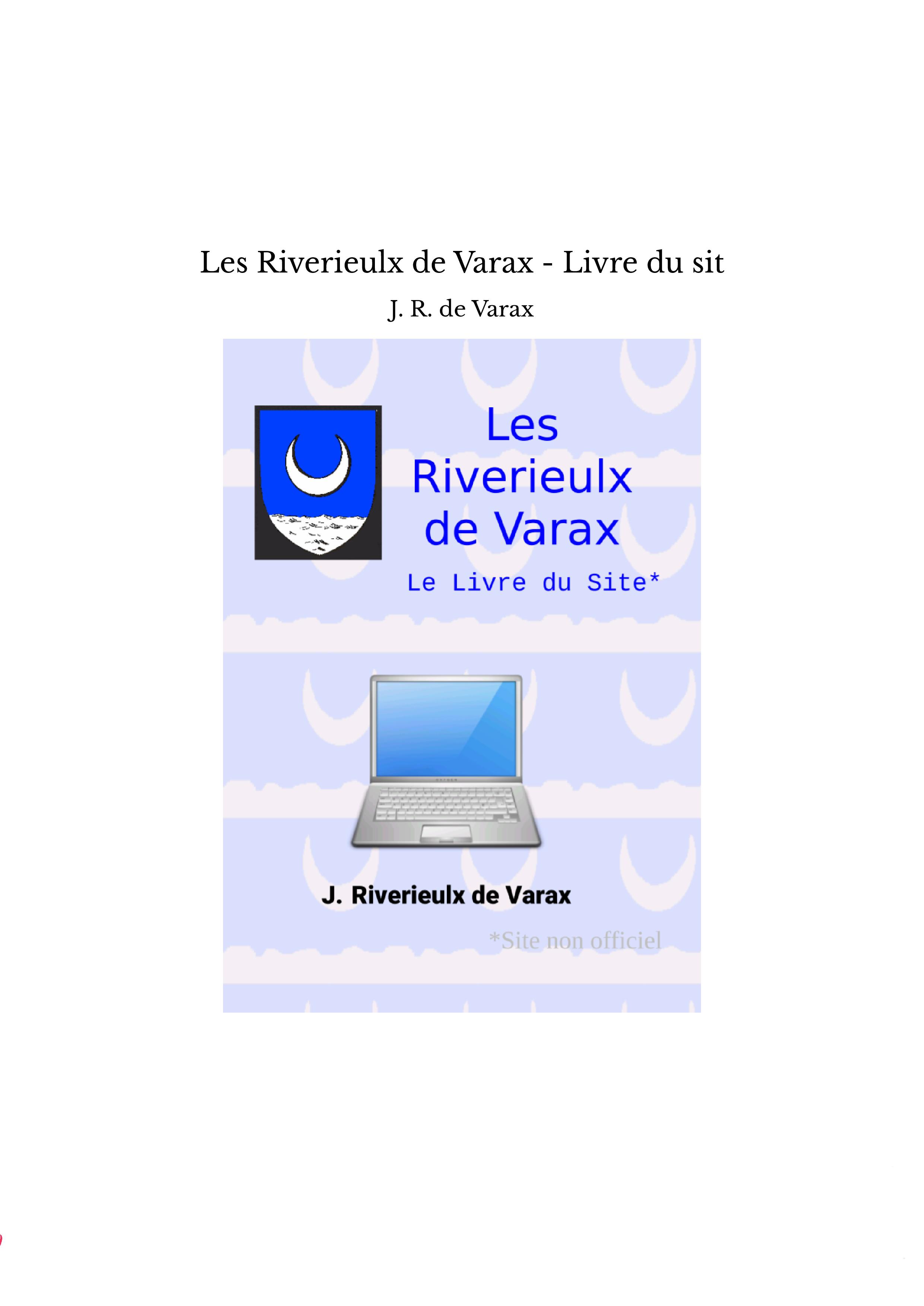 Les Riverieulx de Varax - Livre du sit