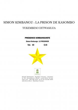 SIMON KIMBANGU : LA PRISON DE KASOMBO