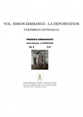 VOL. SIMON KIMBANGU : LA DEPORTATION