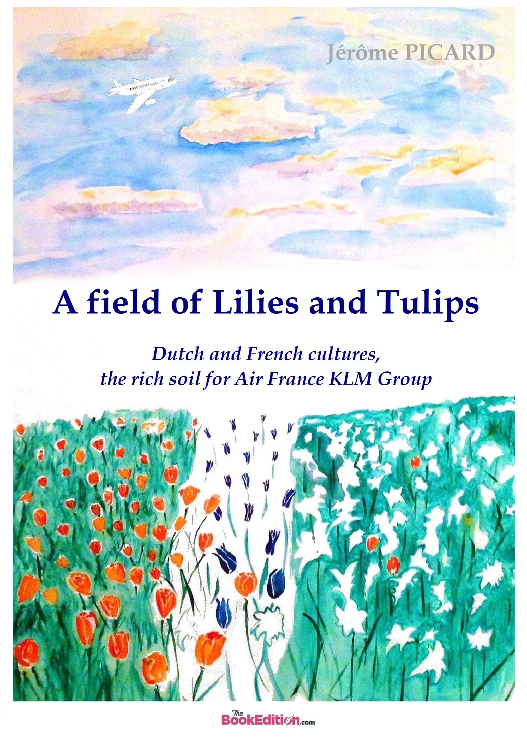 A field of Lilies and Tulips