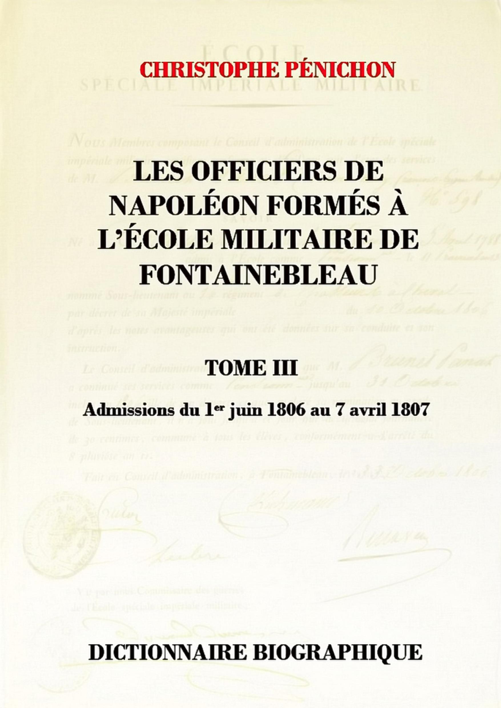 Les Officiers de Napoléon tome III