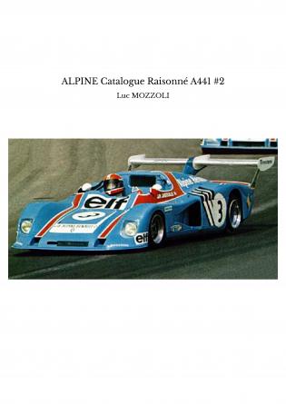 ALPINE Catalogue Raisonné A441 #2