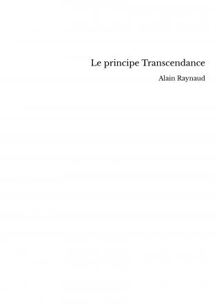 Le principe Transcendance