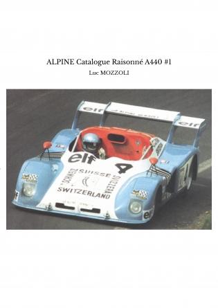 ALPINE Catalogue Raisonné A440 #1