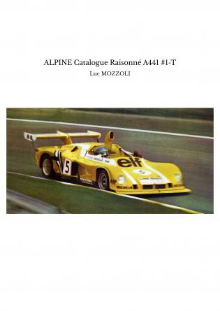 ALPINE Catalogue Raisonné A441 #1-T