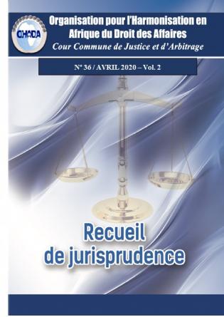 Recueil de jurisprudence n°36, Vol. 2