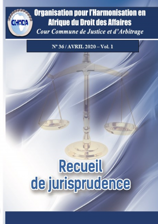 Recueil de jurisprudence n°36, Vol. 1