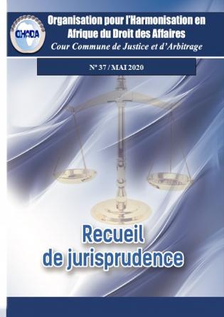 Recueil de jurisprudence n°37