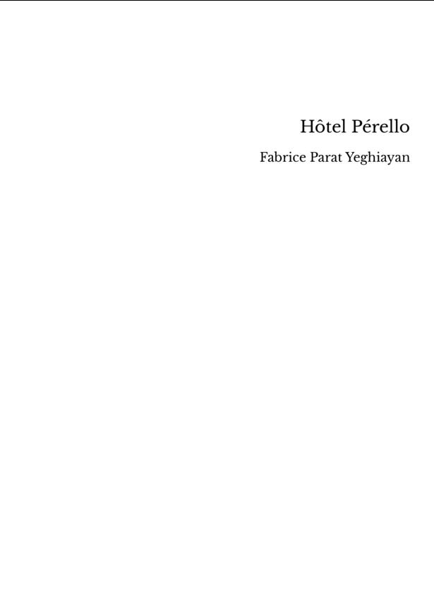 Hôtel Pérello