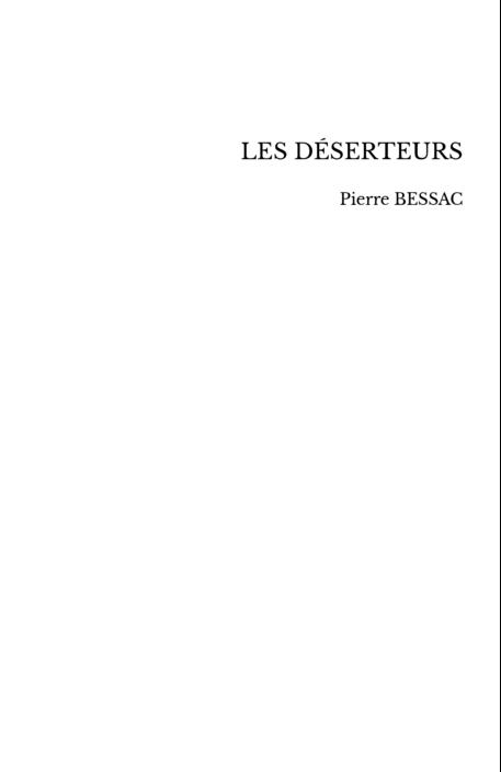 LES DÉSERTEURS