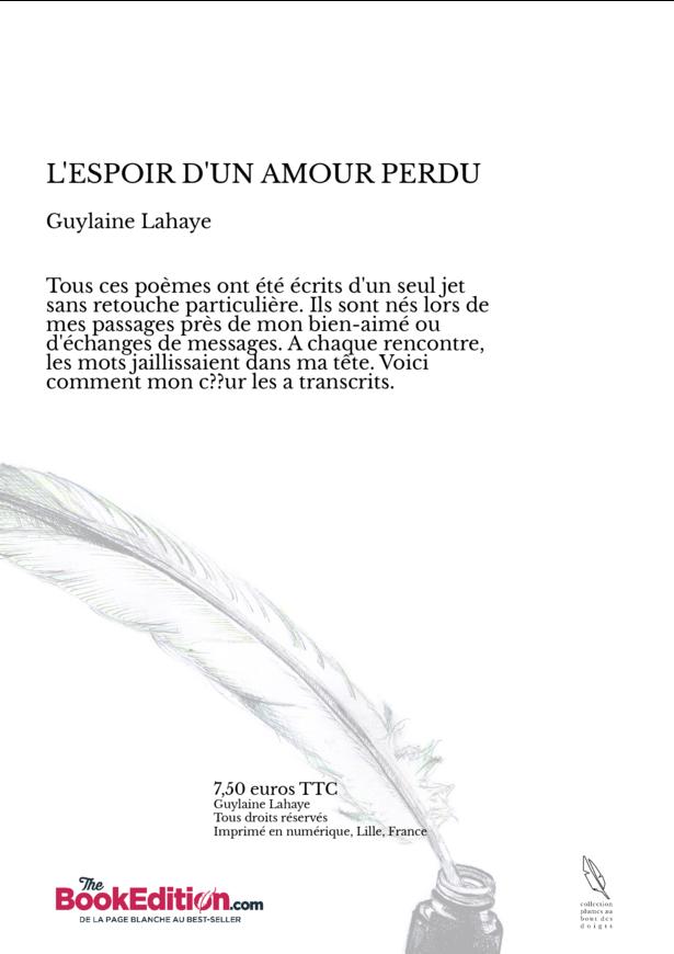 Lespoir Dun Amour Perdu Guylaine Lahaye