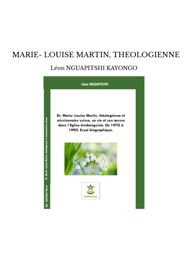 MARIE- LOUISE MARTIN, THEOLOGIENNE