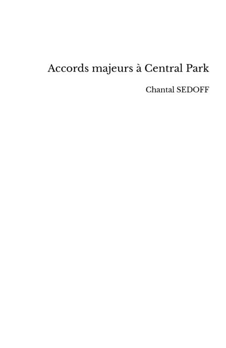 Accords majeurs à Central Park