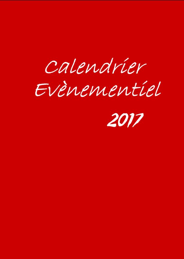 Calendrier Evènementiel 2017