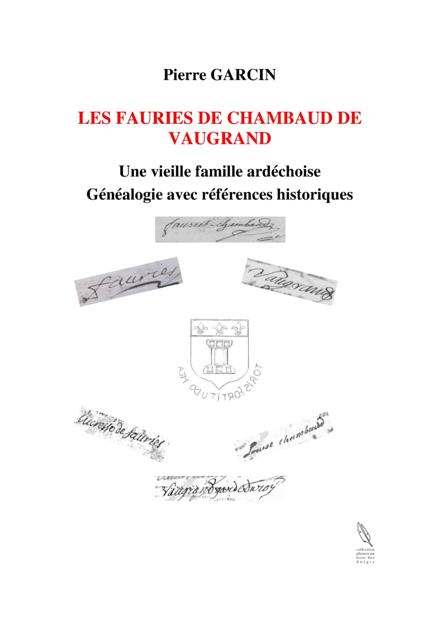 LES FAURIES DE CHAMBAUD DE VAUGRAND