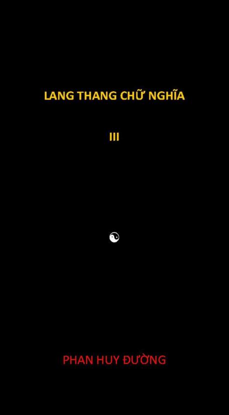 Lang thang chữ nghĩa III