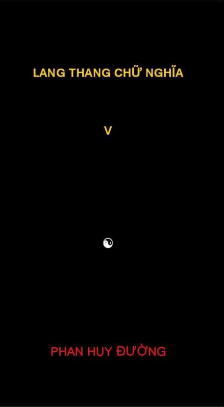 Lang thang chữ nghĩa V
