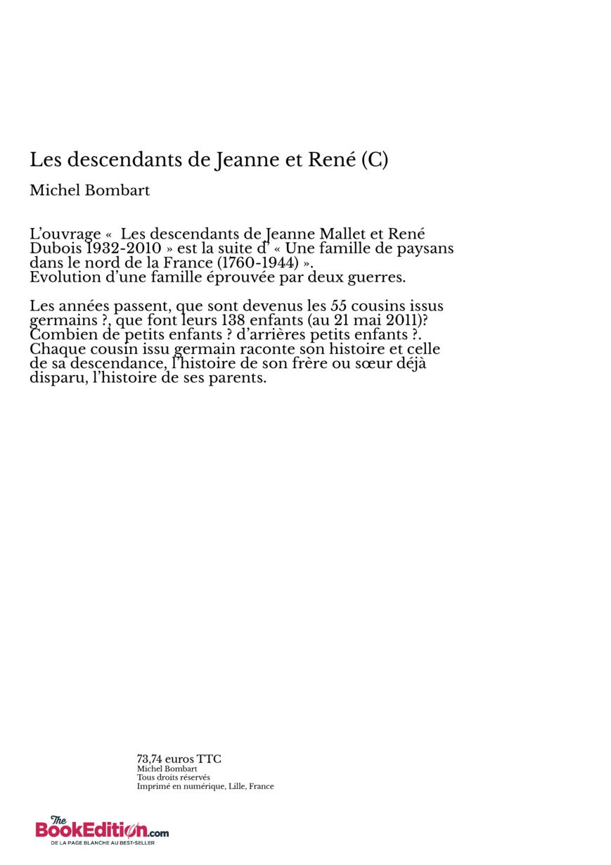 Les descendants de jeanne et ren c thebookedition - Effroyables jardins michel quint resume complet ...
