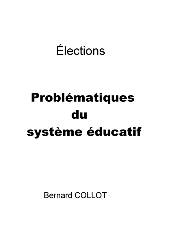Problématiques du système éducatif