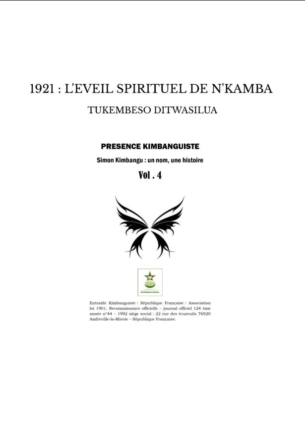 1921 : L'EVEIL SPIRITUEL DE N'KAMBA