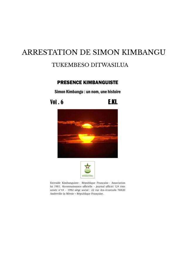 ARRESTATION DE SIMON KIMBANGU