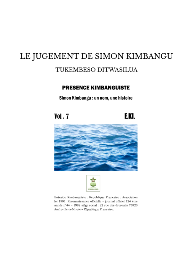LE JUGEMENT DE SIMON KIMBANGU