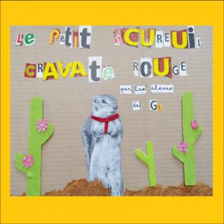 Le Petit Ecureuil Cravate Rouge