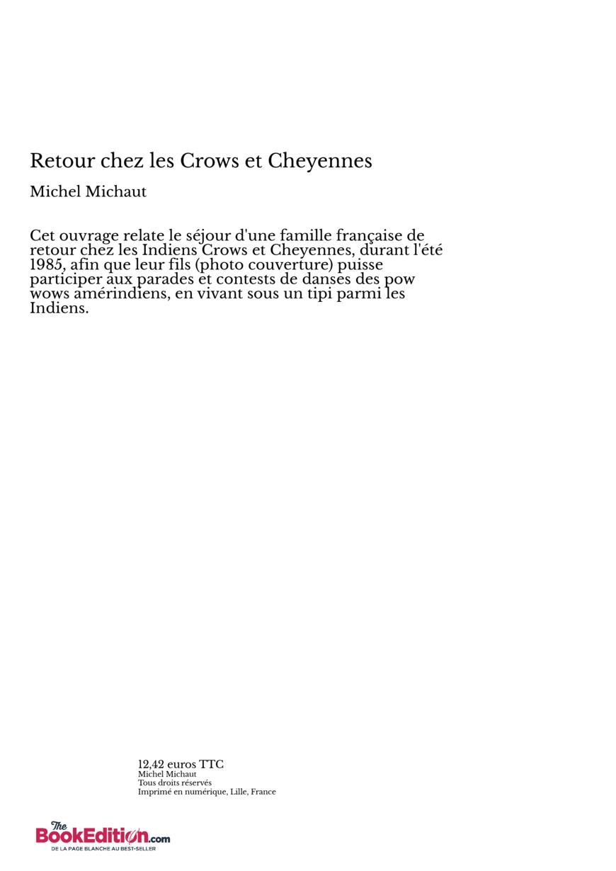 Retour chez les crows et cheyennes michel michaut - Effroyables jardins michel quint resume complet ...
