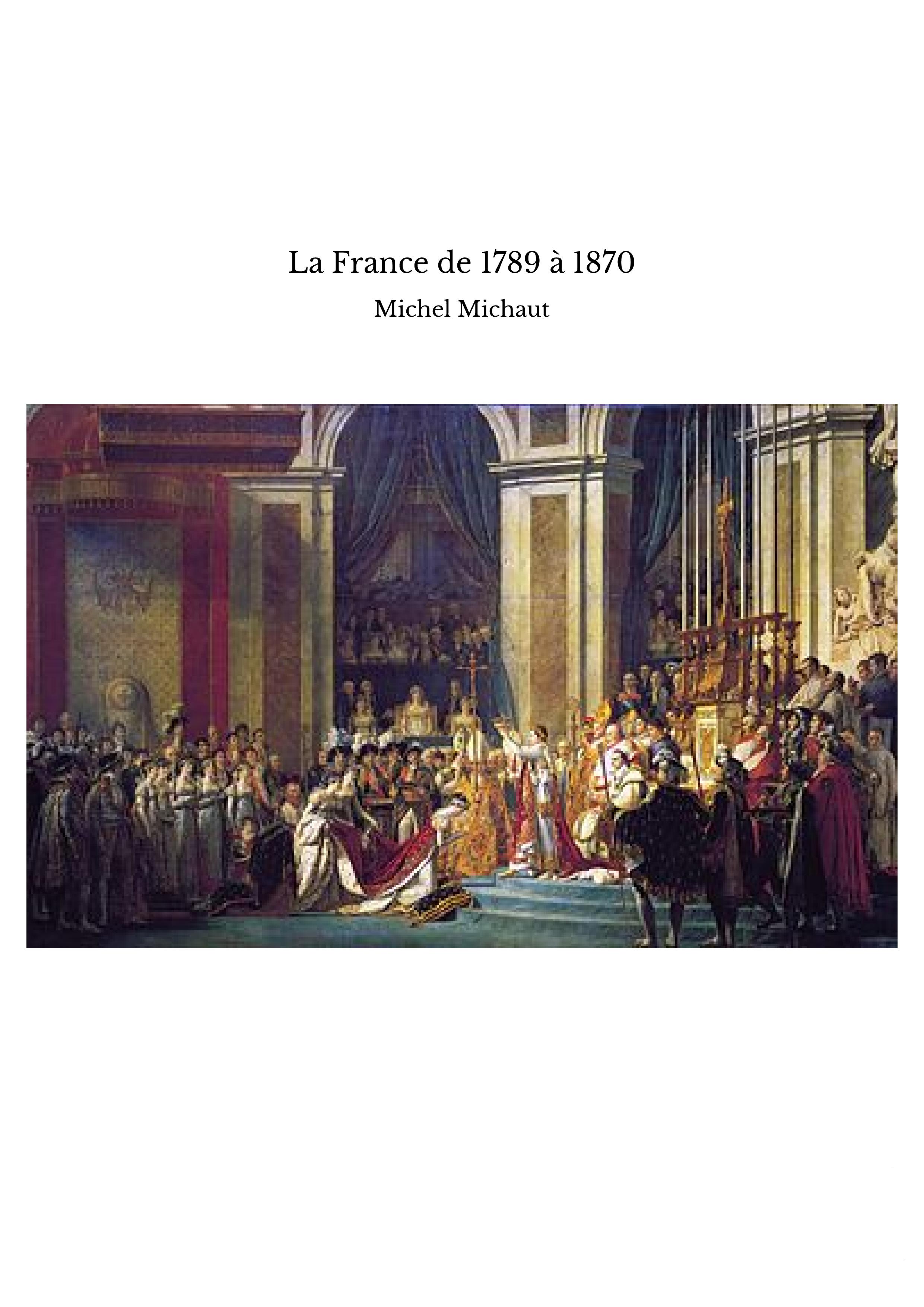 La France de 1789 à 1870