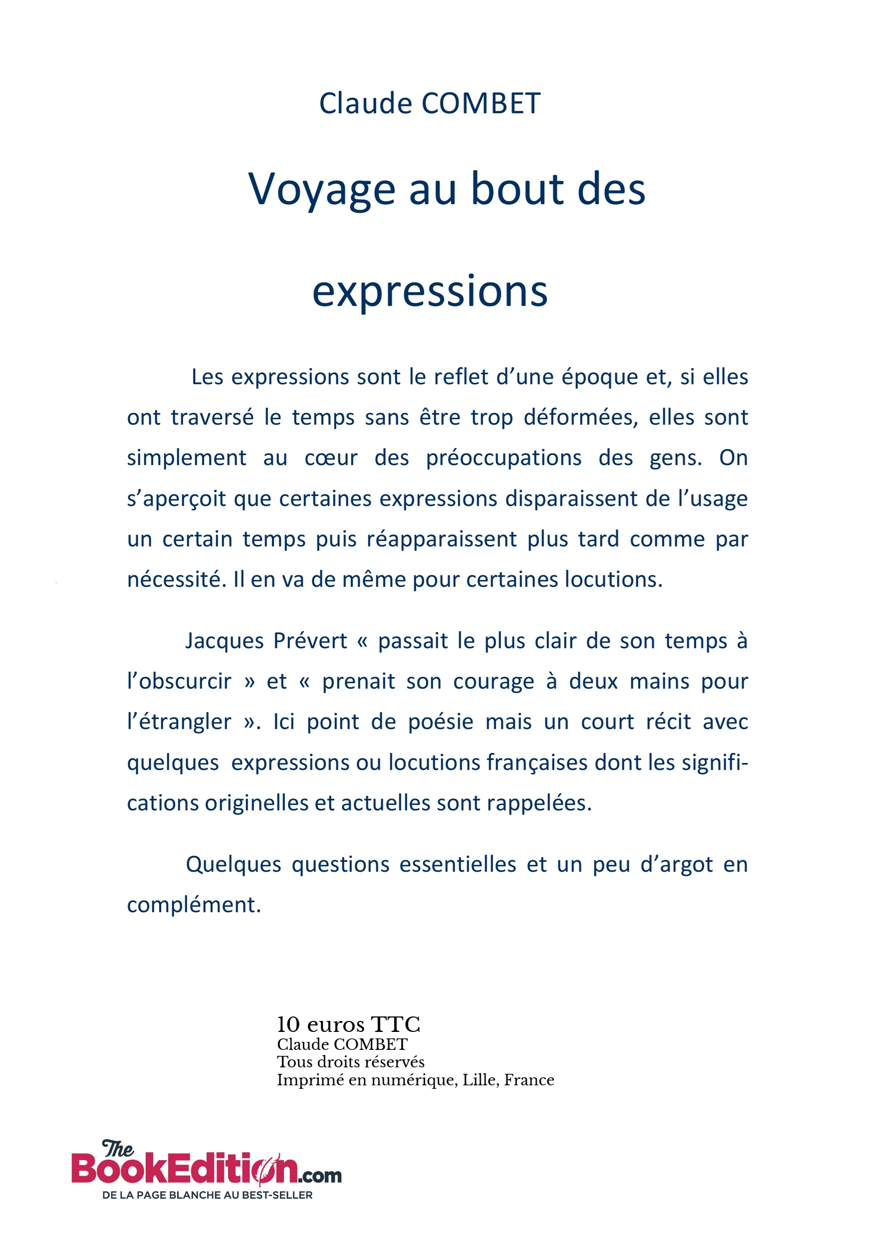 Voyage Au Bout Des Expressions Claude Combet