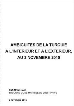 AMBIGUITES DE LA TURQUIE