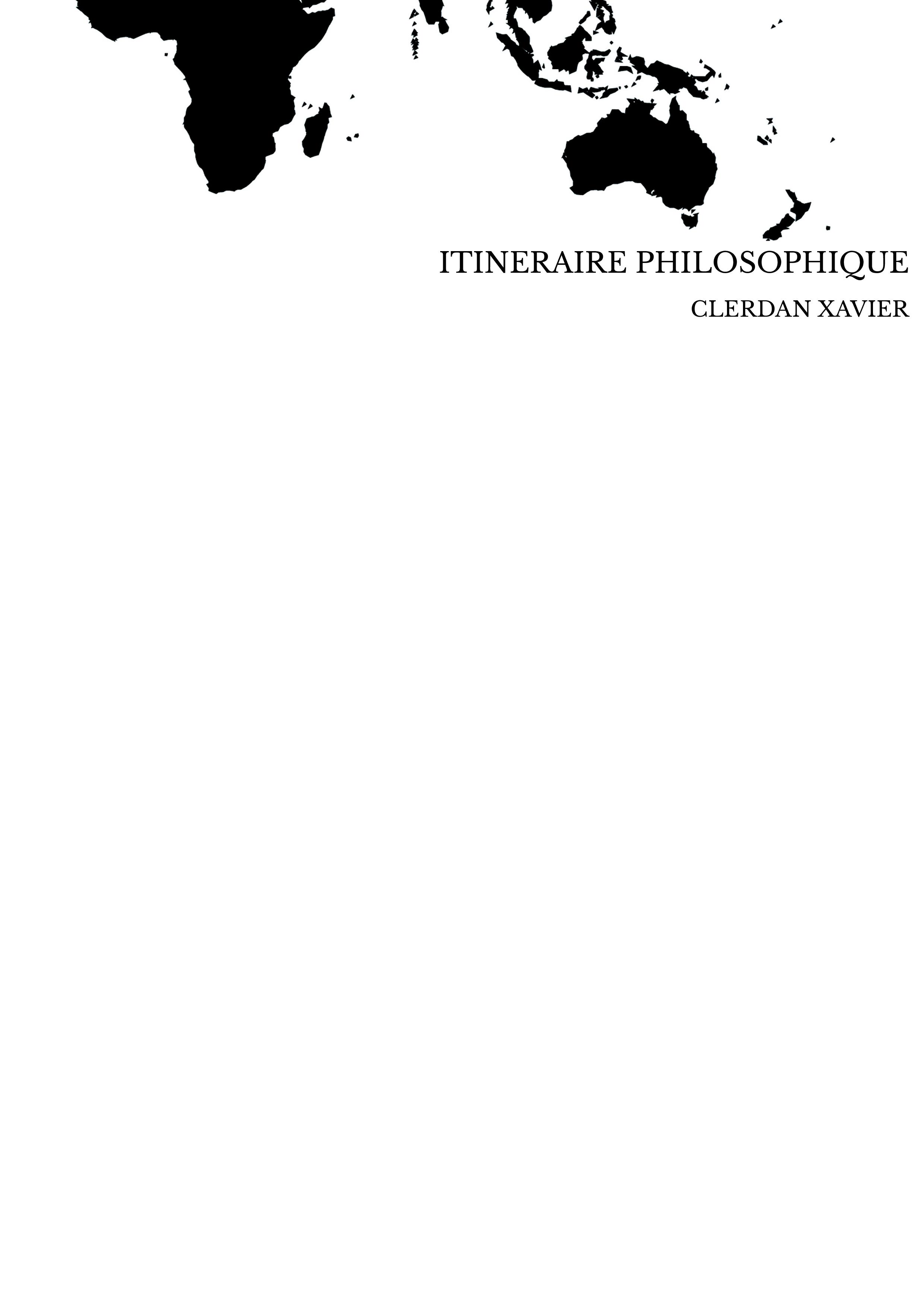 ITINERAIRE PHILOSOPHIQUE
