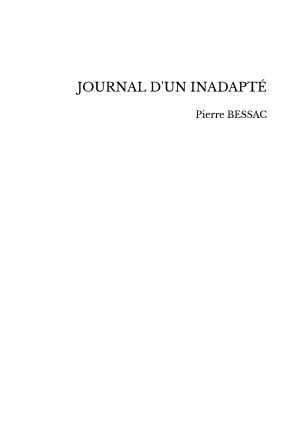 JOURNAL D'UN INADAPTÉ