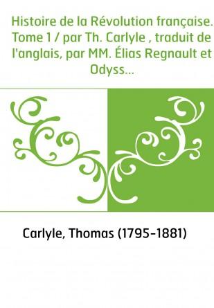 Histoire de la Révolution française....