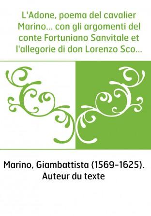 L'Adone, poema del cavalier Marino......